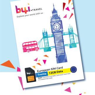 European travel sim - trenta package img
